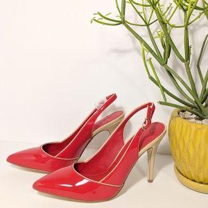 Victor Alfaro Lydia Red Slingback Heel
